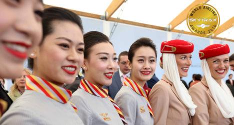 TUBLIMAD JA KAUNIMAD:  Briti nõustamisfirma Skytrax andmetel töötavad usinamad ja ilusamad stjuardessid tänavu Araabia Ühend- emiraatide lennufirmas Emirates. TIMESKUWAIT. COM