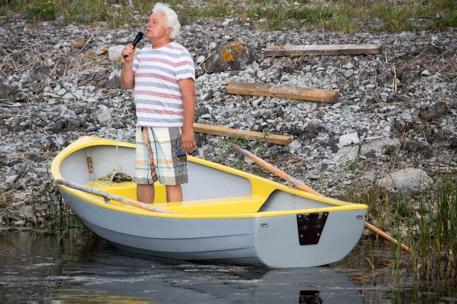 """Kolmapäeval, väinatammi 120. sünnipäeval toimus otse keset tammi kontsert """"Vesi vabaks."""" Fotod ja video: Irina Mägi"""