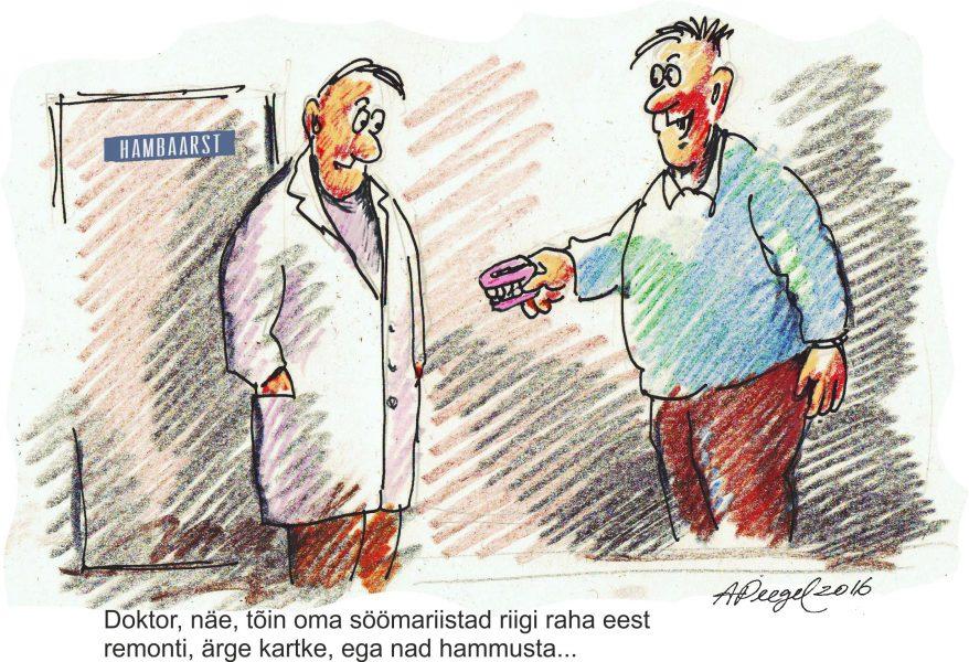 Sotsiaalministeerium ja haigekassa on teinud valitsusele ettepaneku hakata tuleva aasta 1. juulist maksma täiskasvanutele aastas 30 eurot hambaravihüvitist. Mida arvavad sellest plaanist Saaremaa hambaarstid? Sergei Bortnikov, SB Dens OÜ:Ma ei […]