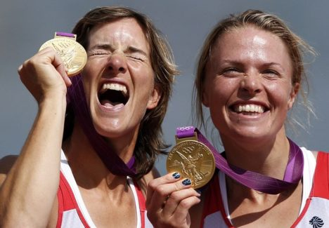 KULDSED TÜDRUKUD: Asjatundjate sõnul saavutas Briti võistkond kodusel olümpial kõigi aegade parima tulemuse paljuski tänu spordielu heale rahastamissüsteemile. Oma panuse andsid Londoni olümpial ka sõudjad Katherine Grainger ja Anna Watkins. THETIMES.CO.UK