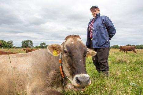 HEA TOIT: Tänavusuvist paremat piimatoodangut soosib tänavune hea karjatamisaasta. Seisab Mereranna karjak Tiiu Soosaar. MAANUS MASING