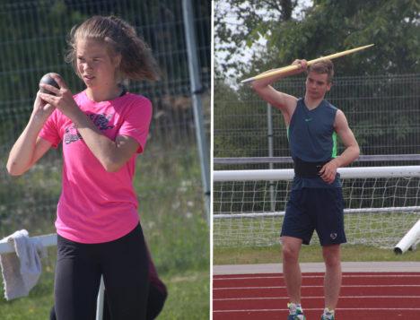 REKORDIOMANIKUD: Nii Marilis Remmel kui Risto Lillemets tegid oma senise karjääri parimad tulemused. ALVER KIVI