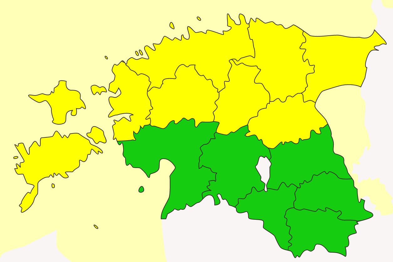 Riiklik ilmateenistus hoiatas üheksat maakonda täna lausvihma eest. Põhja-, Ida- ja Lääne-Eestis sajab täna lausvihma, sajuhulk jääb kohati üle 20 millimeetri, hoiatas ilmateenistus.