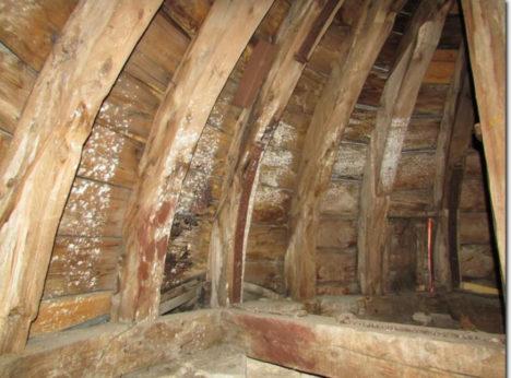 HALLITAB: Torni kandekonstruktsioonid on ulatuslike puidumardika- ja seenkahjustustega.  KEIDI SAKS