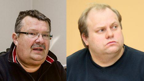 Valijamehed Mihkel Undrest (vasakul)  ja Karl Teaär