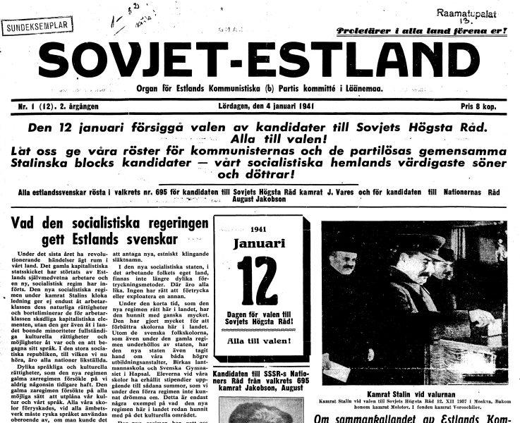 Pärast Eesti okupeerimist 1940. aasta suvel pandi kommunistliku maailma heaks tööle kõik saadaolevad propagandakanalid. Paljuks ei peetud ka anda välja kohalikku ajalehte Eesti ühe vähemusrahvuse emakeeles. Juttu tuleb avastamata tahust […]