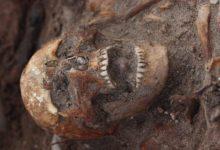 MÄNGUNUPP SUUS: Jüri Peetsi hüpotees tugineb muu hulgas ühe skeleti suust leitud mängunupule, mis kujutab endast kuningat lauamängus hnefatafl. RAUL VINNI