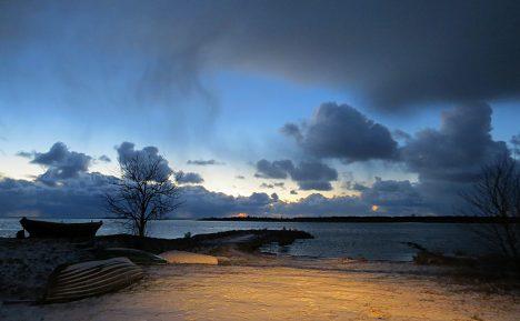 Ühe väikese sadama Talvised puhkehetked ...  Roopa sadam.  KATRI KOTKAS