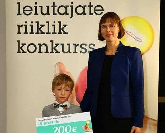 """Lümanda põhikooli õpilane Tõnis Reitalu sai üleeile president Kersti Kaljulaidilt kätte noore leiutaja konkursil võidetud III koha preemia. Tõnis Reitalu leiutis """"Hoolitse oma silmade eest"""" konkureeris 1.–4. klassi arvestuses. Tunnustusega […]"""